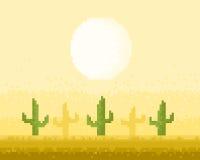 Arte do pixel do deserto Foto de Stock
