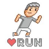 Arte do pixel eu amo a corrida Fotografia de Stock
