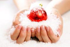 Arte do prego do Natal Fotos de Stock Royalty Free
