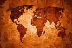 Arte do projeto da pintura do mapa do mundo ilustração do vetor