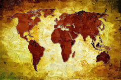 Arte do projeto da pintura do mapa do mundo ilustração stock