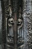 Arte do templo de Angkor fotos de stock