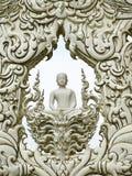 Arte do templo de Wat Rong Khun em Tailândia Fotos de Stock Royalty Free