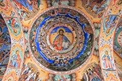 Arte do teto da igreja de Rila Fotos de Stock Royalty Free