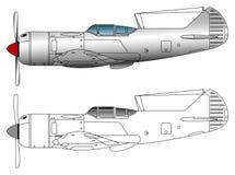 Arte do vetor do avião de combate WW2 ilustração royalty free