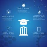 Arte do vetor do estudante do conceito da educação Foto de Stock Royalty Free