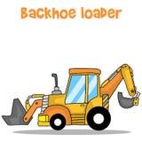 Arte do vetor dos desenhos animados do carregador do Backhoe ilustração royalty free