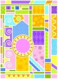 Arte do vidro manchado da Arte-deco ilustração royalty free