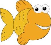 Arte dorata del fumetto del pesce Fotografie Stock Libere da Diritti