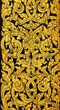 Arte dorata tailandese della pittura Fotografia Stock
