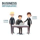 Arte dos desenhos animados do negócio-infographics Imagem de Stock Royalty Free