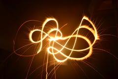 Arte dos fogos-de-artifício Fotografia de Stock Royalty Free