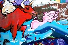Arte dos grafittis Fotos de Stock Royalty Free