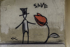 Arte dos grafittis Fotografia de Stock