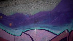 Arte dos grafittis da rua video estoque