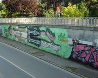 Arte dos grafittis da rua Foto de Stock Royalty Free