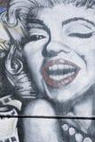 Arte dos grafittis de Marilynn Monroe Imagem de Stock