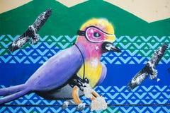 Arte dos grafittis e da rua em Bogotá Foto de Stock Royalty Free