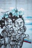 Arte dos grafittis e da rua em Bogotá Imagem de Stock Royalty Free