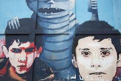Arte dos grafittis e da rua em Bogotá Foto de Stock