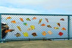 Arte dos peixes do porto Fotos de Stock