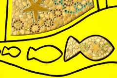 Arte dos peixes e dos shell Imagens de Stock