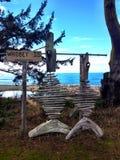 Arte dos peixes na ilha de Whidbey, Washington Fotografia de Stock