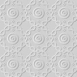 arte Dot Curve Cross Frame Line rotondo del Libro Bianco 3D illustrazione vettoriale