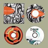 Arte e copertura etniche dei CD di musica Immagine Stock
