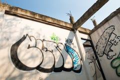 Arte e costruzione abbandonata Immagine Stock