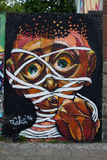 Arte e grafittis da rua em Berlim, Alemanha Fotografia de Stock