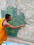 Arte e monaco buddista fotografie stock
