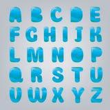 Arte ed illustrazione di vettore di stile dell'acqua di alfabeto Fotografie Stock