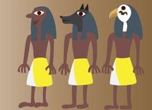 Arte egipcio antiguo 3 ilustración del vector