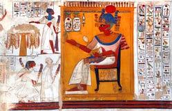 Arte egipcio de la pared Foto de archivo libre de regalías