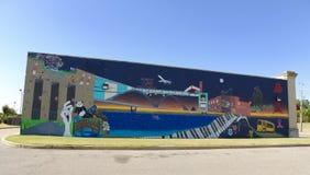 Arte em uma construção em Memphis, Tennessee imagens de stock royalty free