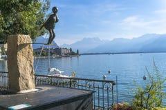 Arte en el bulevar en Montreux imagen de archivo libre de regalías