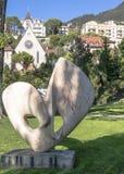 Arte en el bulevar en Montreux imágenes de archivo libres de regalías