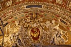 Arte en el techo en el Vaticano Fotos de archivo libres de regalías