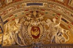 Arte en el techo en el Vaticano Foto de archivo libre de regalías