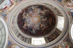 Arte en el techo en el Vaticano Fotografía de archivo libre de regalías