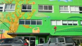 Arte en el wynwood Miami FL almacen de metraje de vídeo