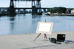 Arte en La Boca 2. White canvas La Boca - Buenos Aires - Argentina Royalty Free Stock Photos