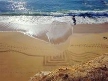 Arte en la playa Fotografía de archivo libre de regalías