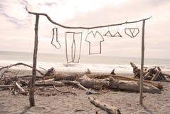 Arte en la playa Imagen de archivo libre de regalías