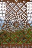 Arte en la ventana Fotografía de archivo libre de regalías