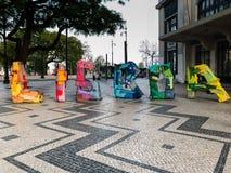Arte en Lisboa-Lisboa, Portugal Imagenes de archivo