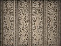 Arte en puerta de los templos del budismo en el fondo de papel para la cartulina Fotos de archivo