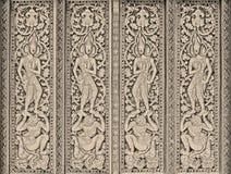 Arte en puerta de los templos del budismo en el fondo de papel para la cartulina Foto de archivo