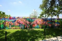 Arte exterior en las paredes de Wnywood en Miami, la Florida Imagen de archivo